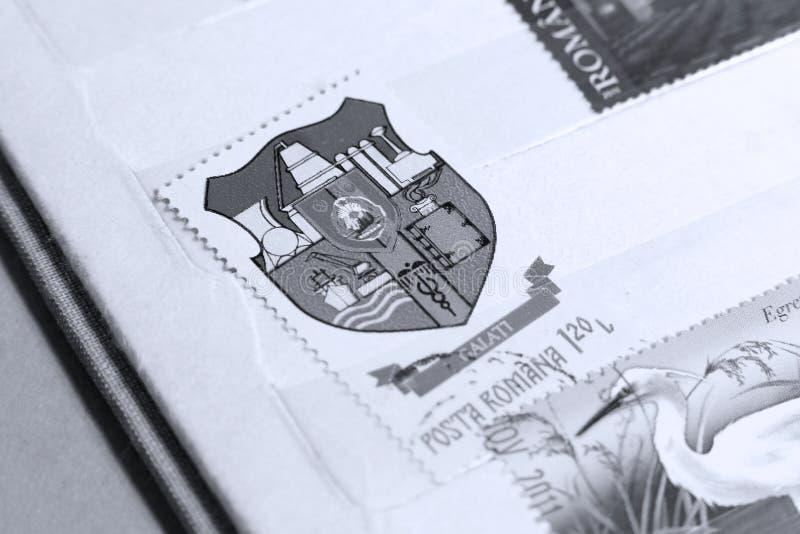 Postzegel Galati, Roemenië royalty-vrije stock fotografie