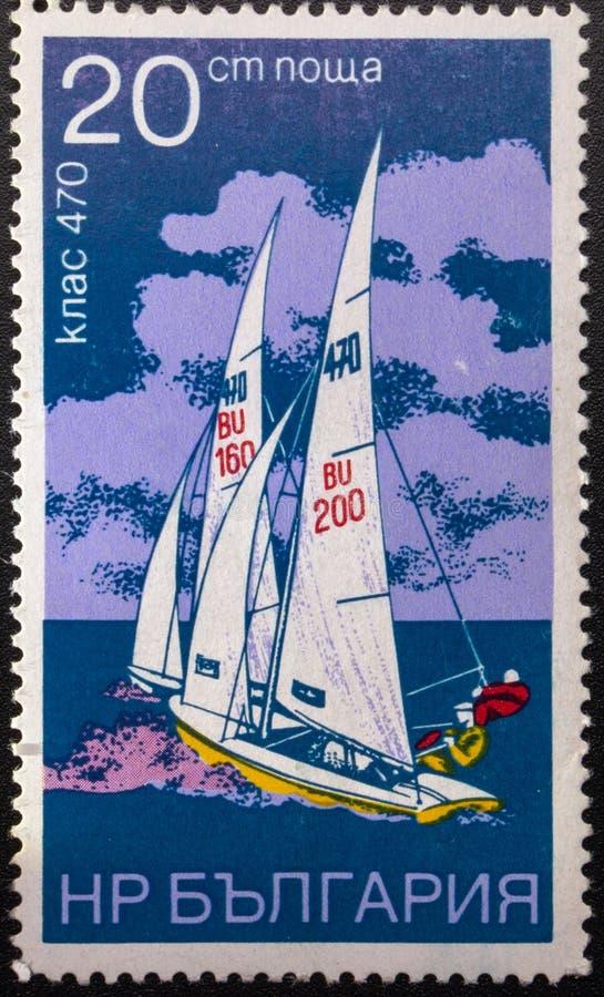 Postzegel 1973 sailing bulgarije royalty-vrije stock afbeeldingen