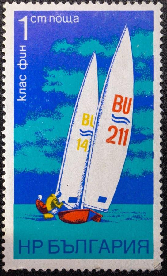 Postzegel 1973 sailing bulgarije royalty-vrije stock foto