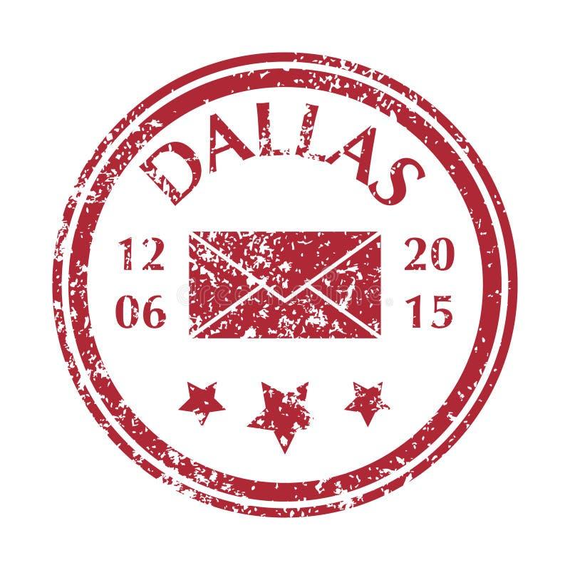 Postzegel van Dallas stock illustratie