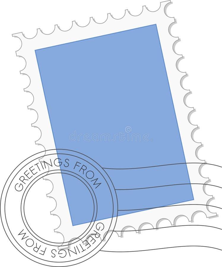 Postzegel in vector stock illustratie