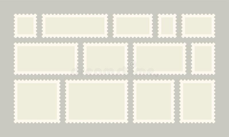 Postzegel vectorpost of prentbriefkaaren royalty-vrije illustratie