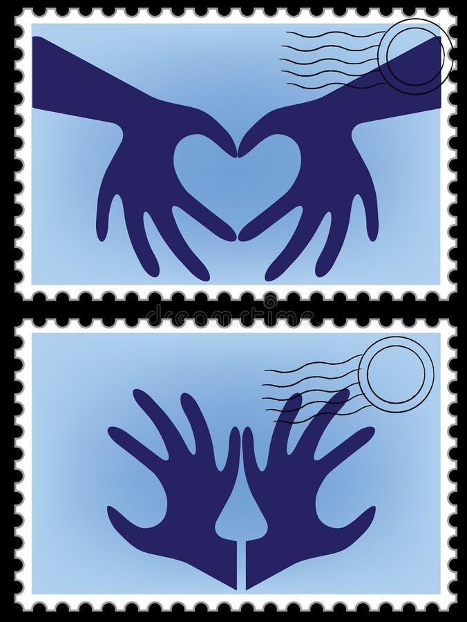 Postzegelvector royalty-vrije illustratie