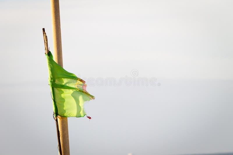 Poszarpana portugalczyk flaga fotografia royalty free