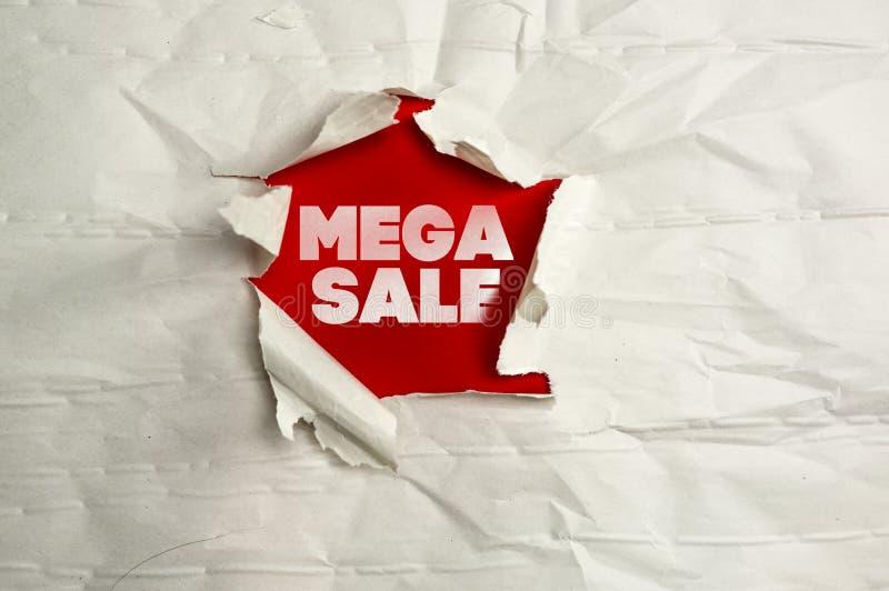 Poszarpanego papierowego writing mega sprzedaż obrazy royalty free