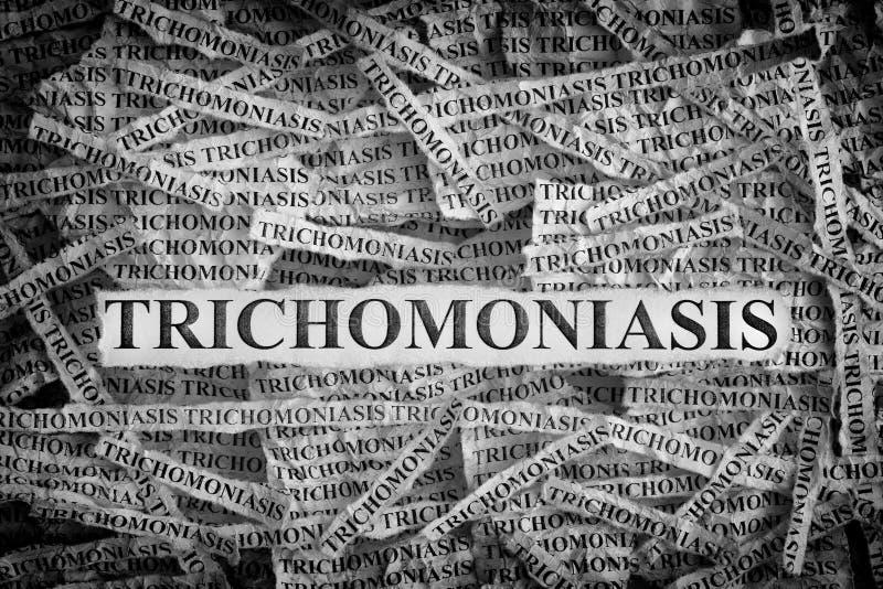 Poszarpani kawałek papieru z słowa Trichomoniasis fotografia royalty free
