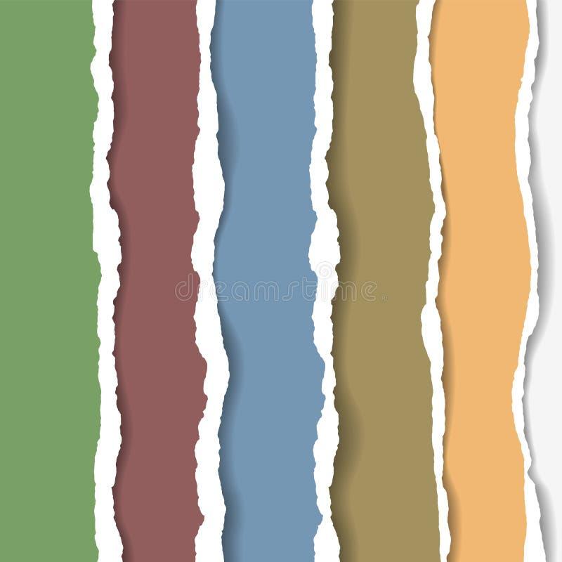 Poszarpany papierowy tło z przestrzenią dla teksta Projektuje ilustracyjnego szablonu wektor dla sztandaru strona internetowa, wi royalty ilustracja