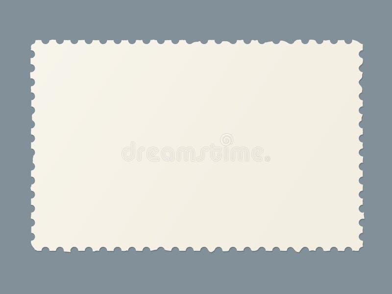 Poszarpany pusty znaczek pocztowy ilustracji
