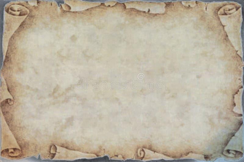 Poszarpany stary papier z yellowish kolorami ilustracja wektor