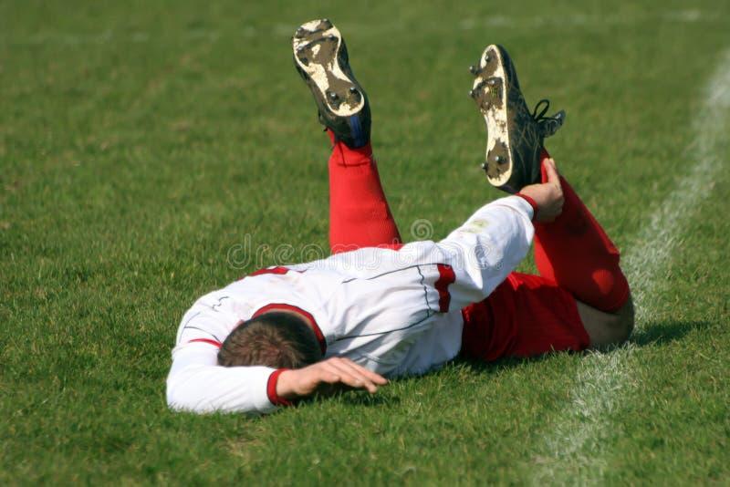 poszkodowany gracz footballu