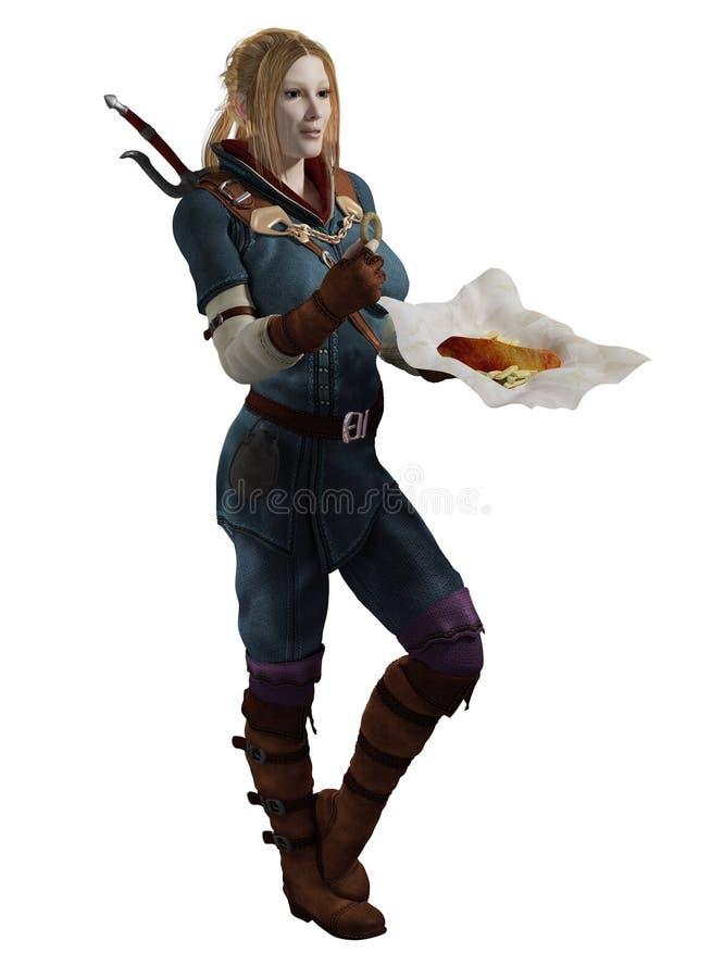 Poszukiwacz przygód posiłku przerwa ilustracji
