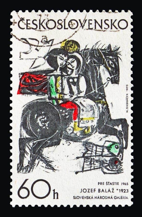 Poszukiwanie dla szczęścia, Josef Balaz 1965, seria, około 1973 obraz royalty free