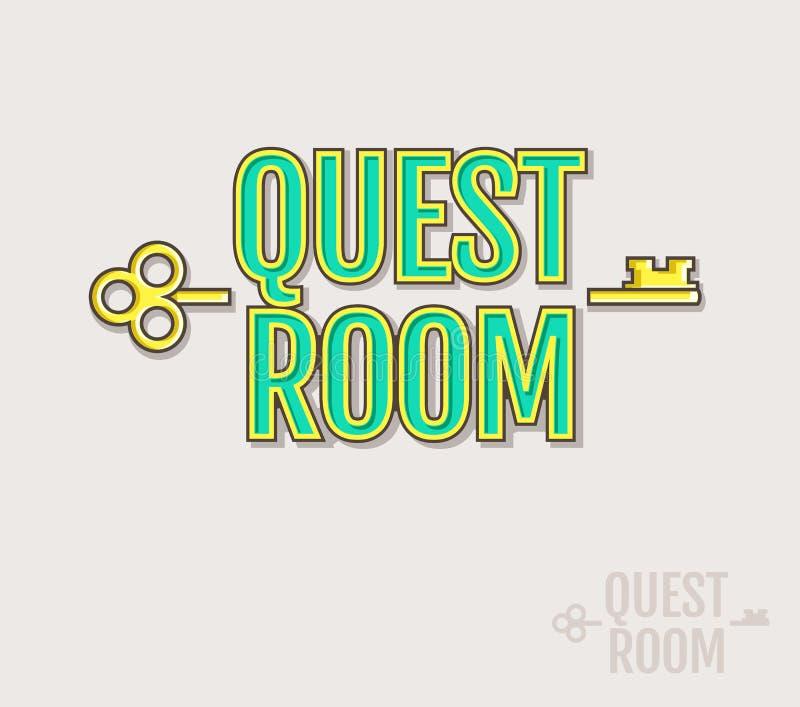 Poszukiwanie pokoju logo ilustracji