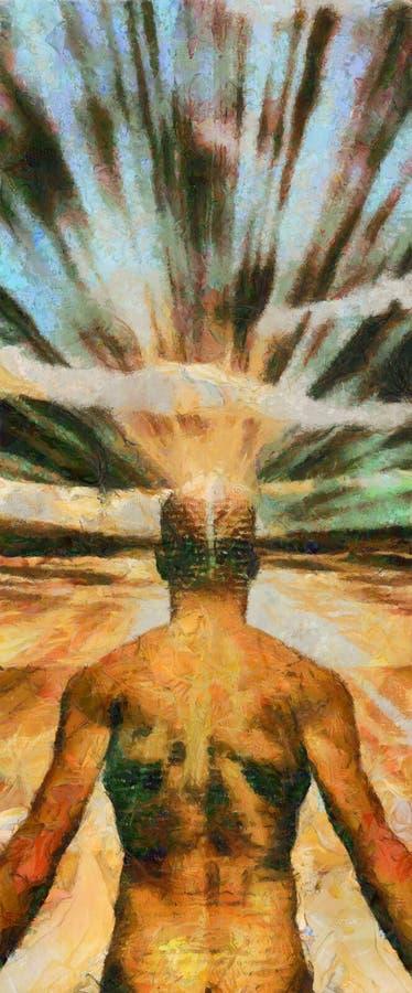 Potência da mente ilustração do vetor