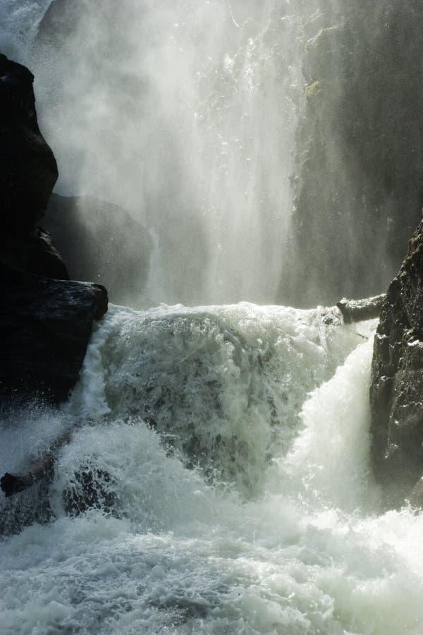 A potência das cachoeiras imagens de stock
