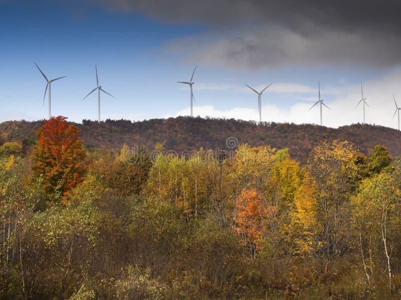 Potência de Eco, turbinas de vento imagens de stock royalty free