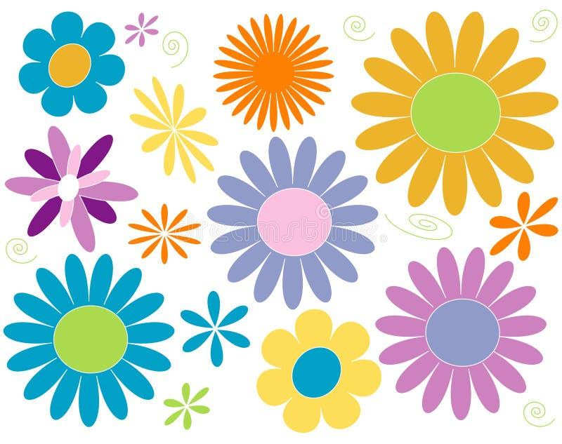 Potência de flor ilustração do vetor