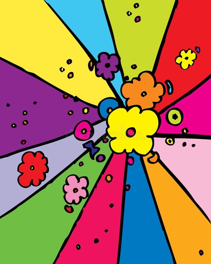 Potência de flor ilustração stock