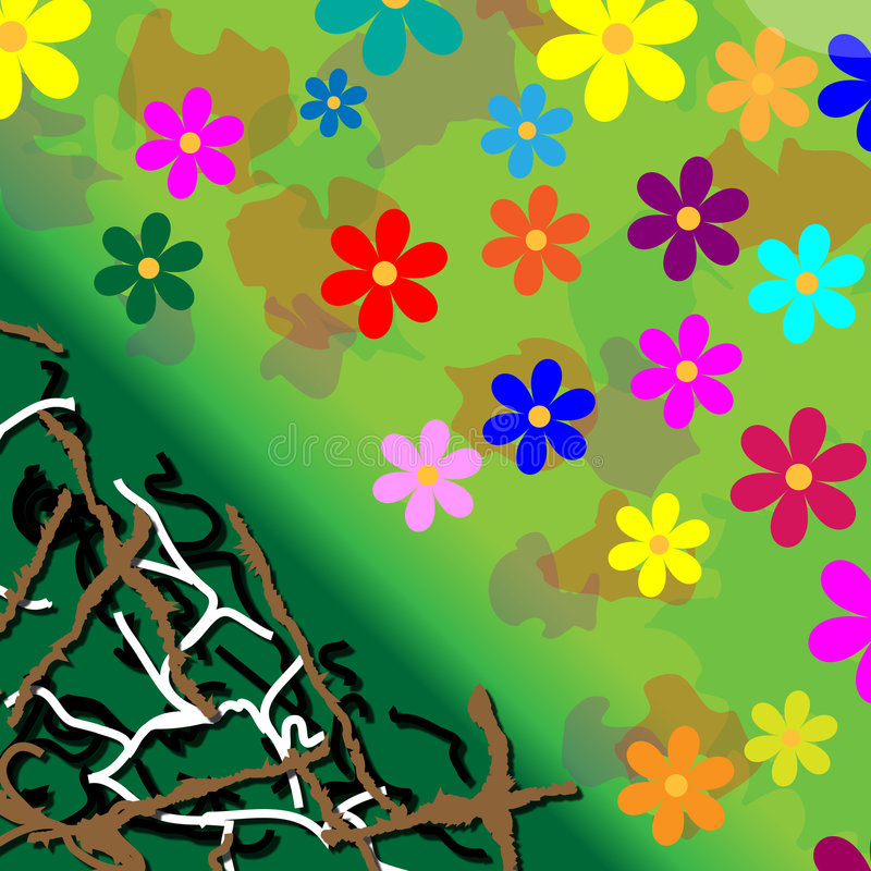 Potência de flor do fundo ilustração stock