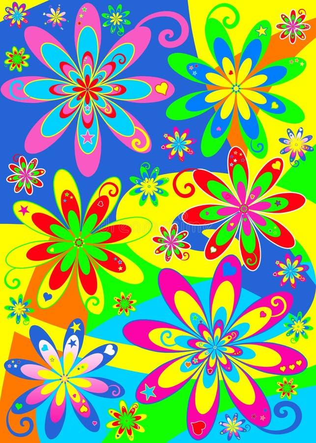Potência de flor Groovy do Hippie ilustração royalty free