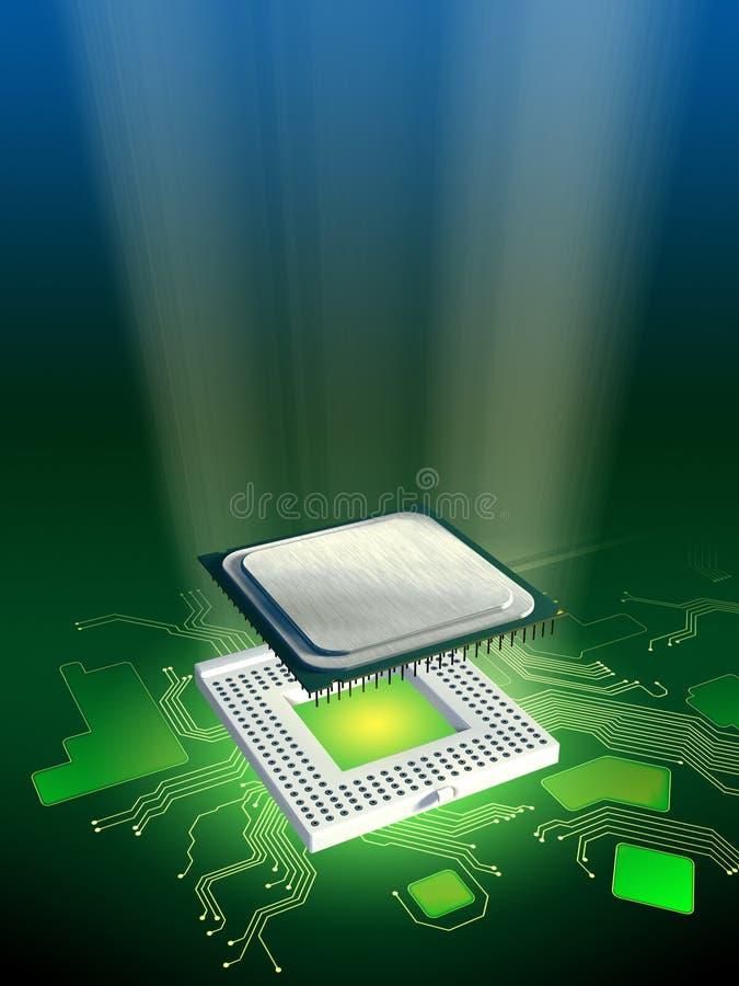 Potência do processador ilustração do vetor