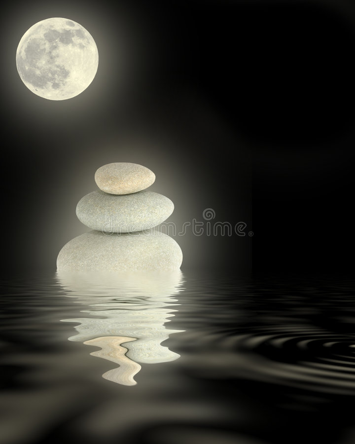 Potência do zen foto de stock royalty free