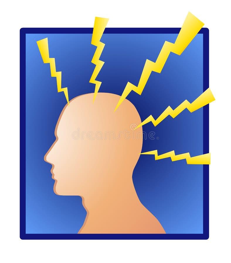 Potência ou dor de cabeça da mente ilustração royalty free