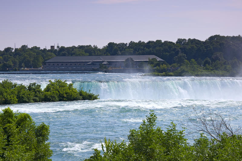 Potência que gera a estação em Niagara Falls Ontário fotos de stock royalty free