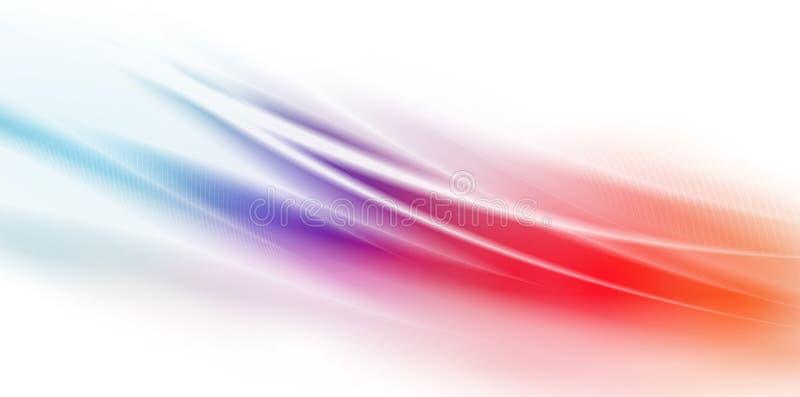 A potência rápida acena sobre o fundo colorido ilustração stock