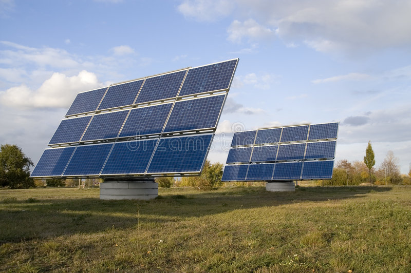 Potência solar ó imagens de stock