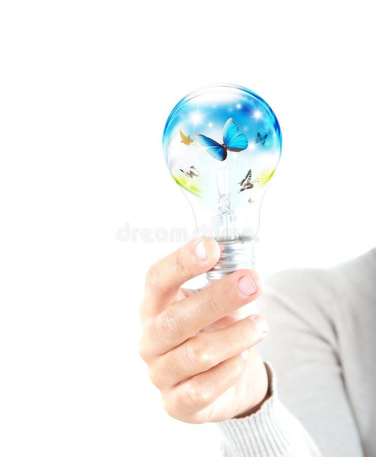 Potência verde imagens de stock royalty free
