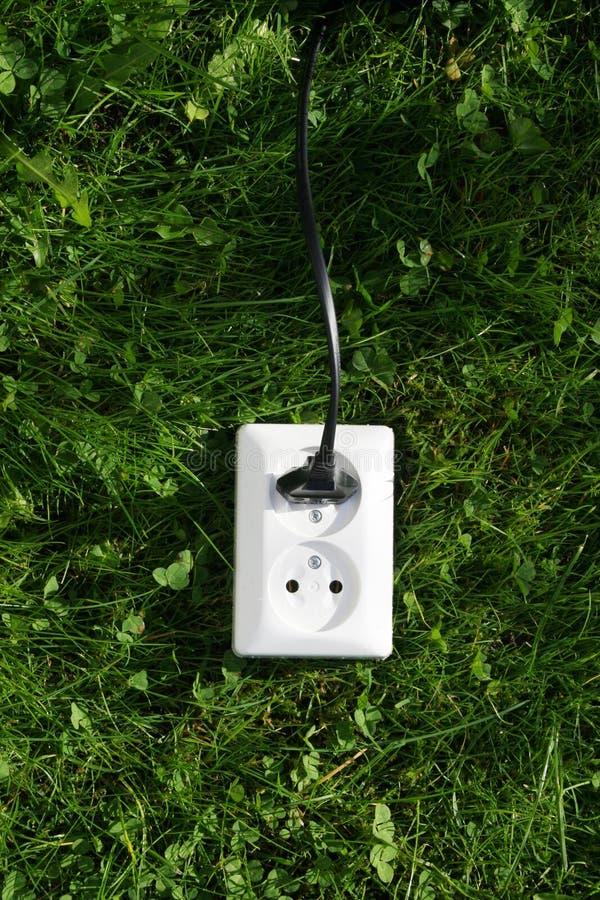 Potência verde fotografia de stock royalty free