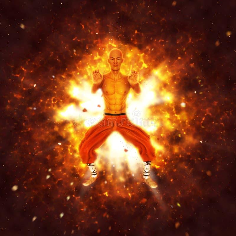 Potężna Shaolin michaelita ilustracja ilustracja wektor