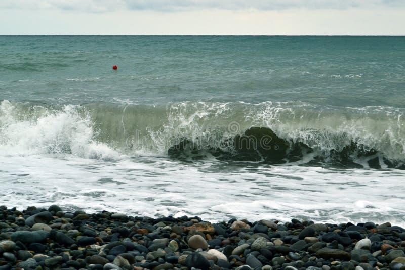 Potężne fala wody morskiej fotografia zdjęcia royalty free