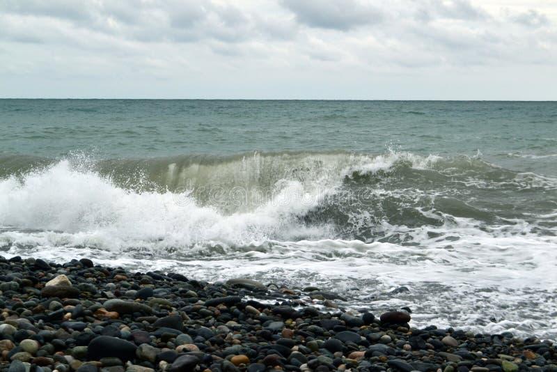Potężne fala wody morskiej fotografia obrazy stock
