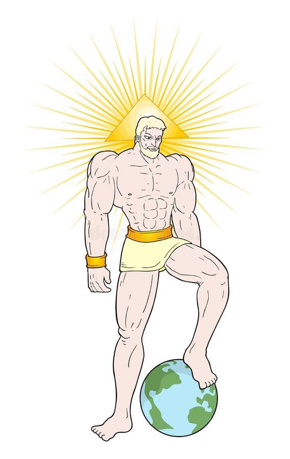 Potężny bóg remis ilustracji