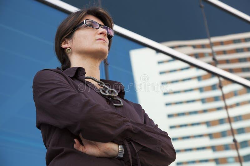Potężny bizneswoman zdjęcie stock
