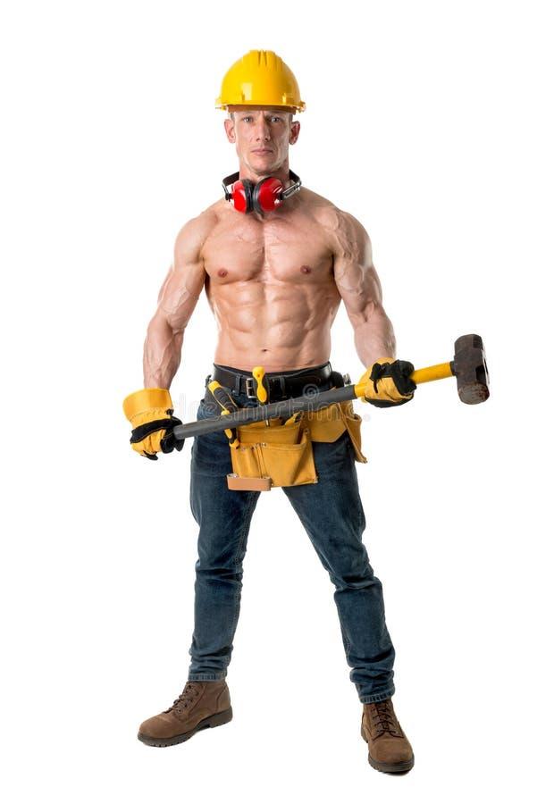 Potężny pracownik budowlany obrazy stock