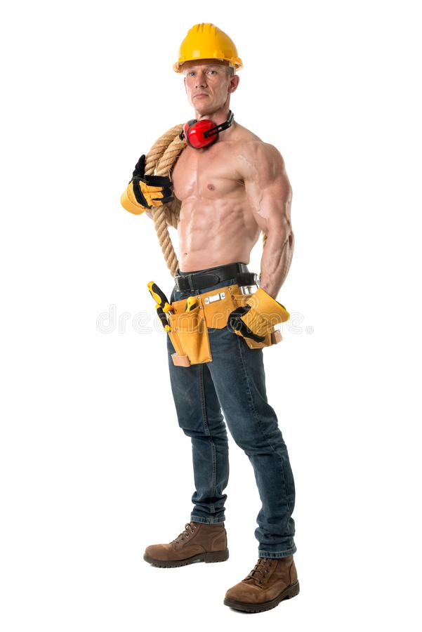 Potężny pracownik budowlany obraz stock