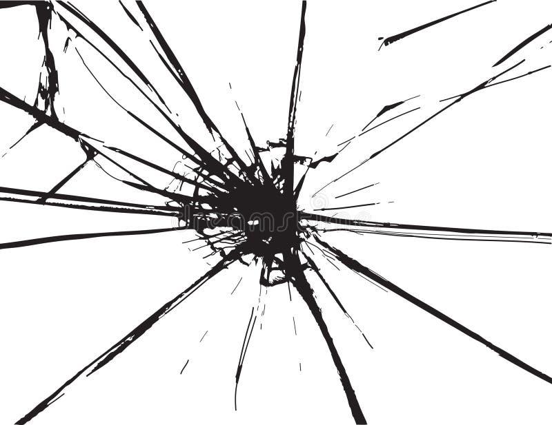 potłuczone szkło ilustracja wektor