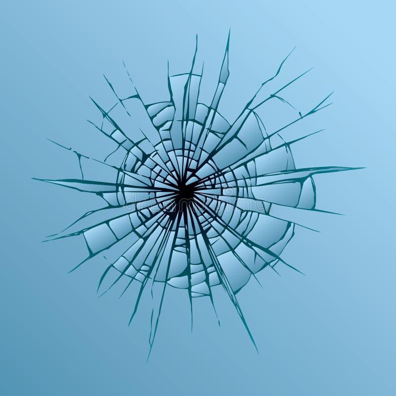 potłuczone szkło rysuje tła trawy kwiecistego wektora ilustracja wektor