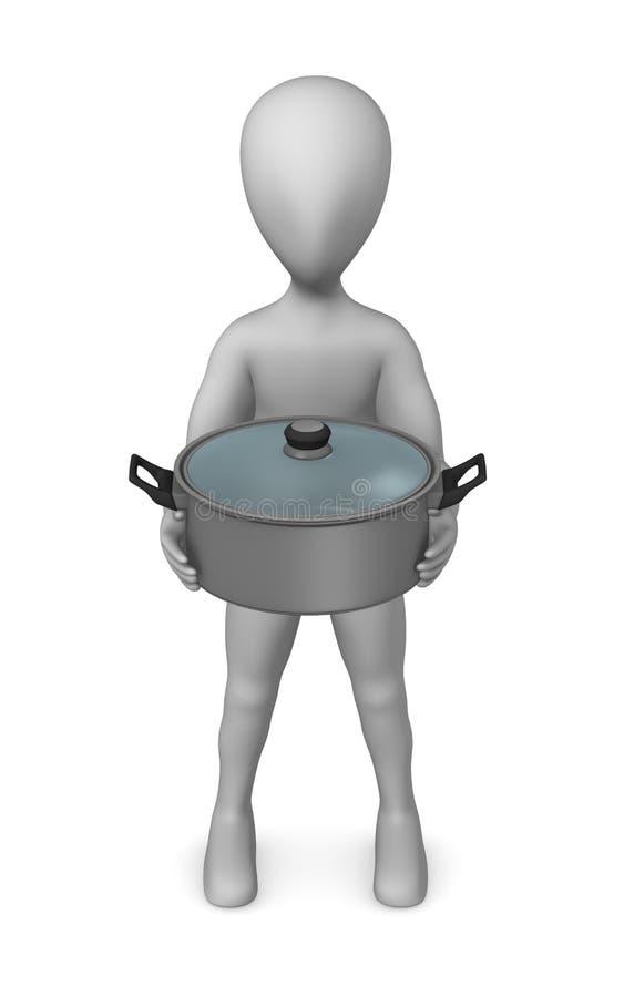 Download Pot stock illustration. Image of oven, fire, render, cooker - 14696260