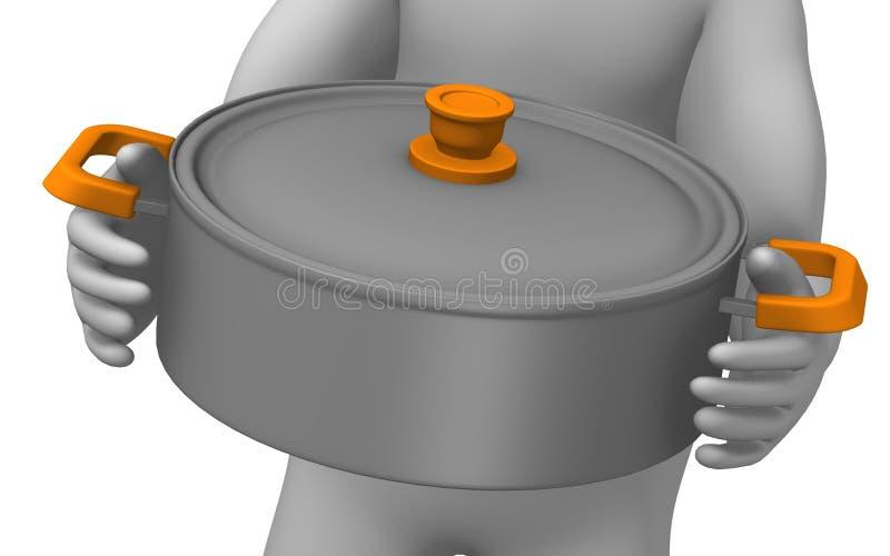 Download Pot stock illustration. Image of illustration, saucepan - 14696294