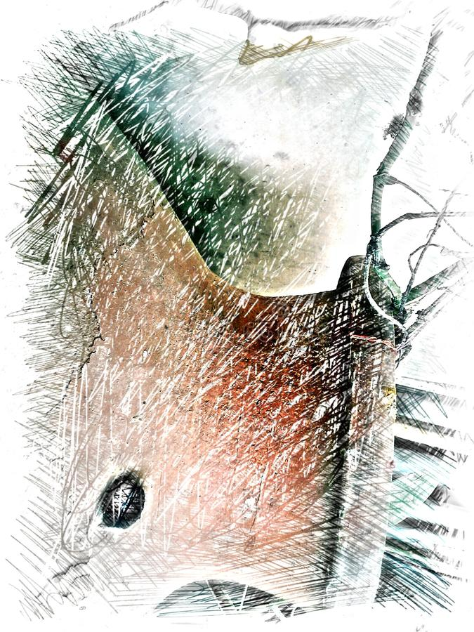 Pot Art Effect photographie stock libre de droits