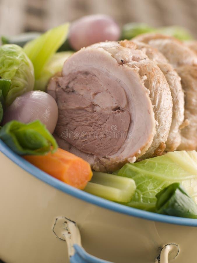 Pot au Feu Belly Pork Sliced royalty free stock photos