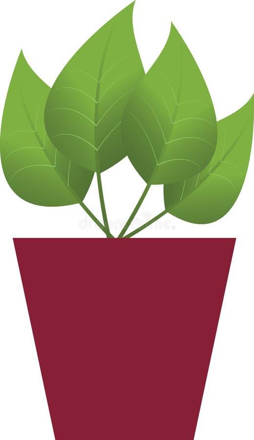 Pot avec la fleur illustration stock