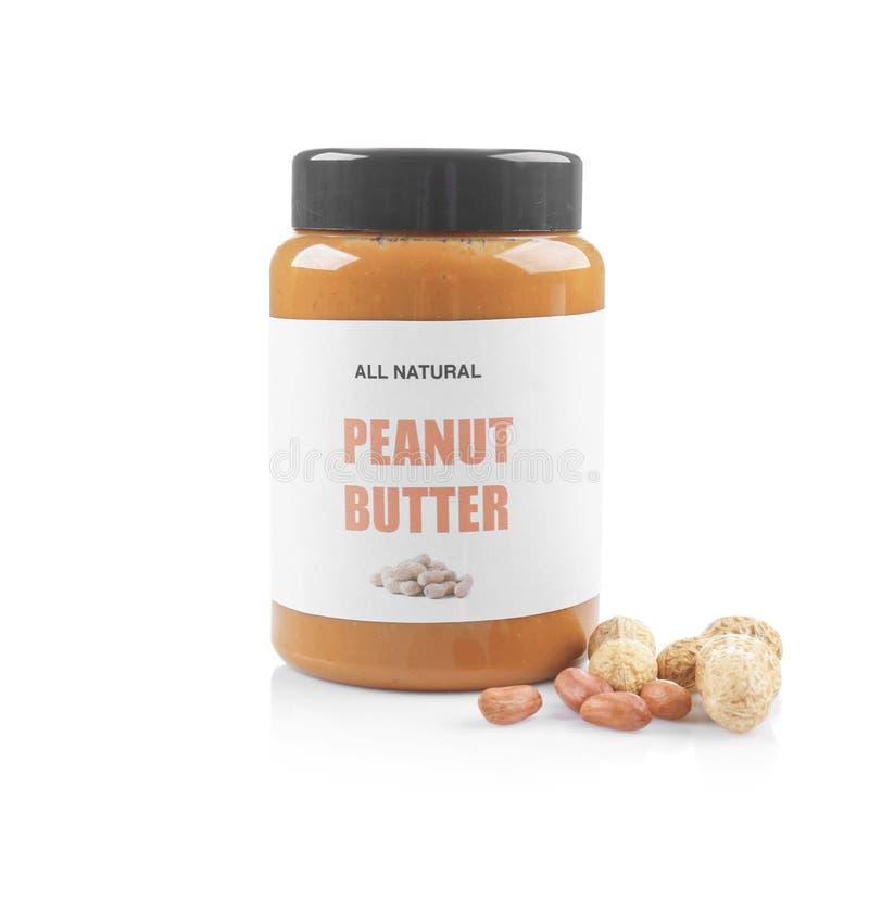 Pot avec le beurre d'arachide images libres de droits