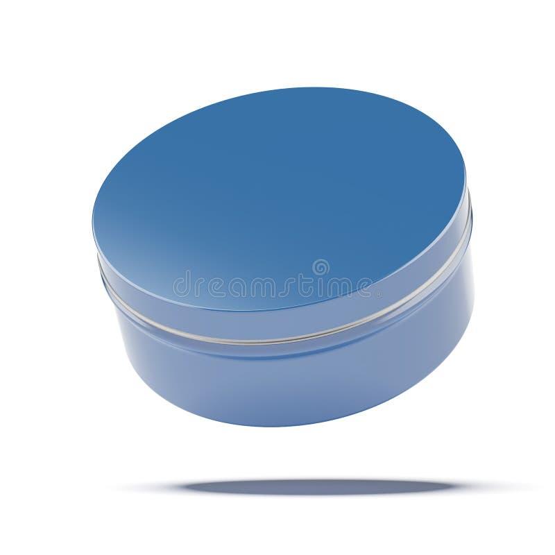 Pot bleu en métal illustration stock