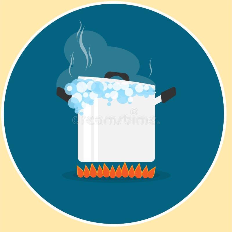 Free Pot Boil On Fire Logo Vector Royalty Free Stock Photos - 103988108