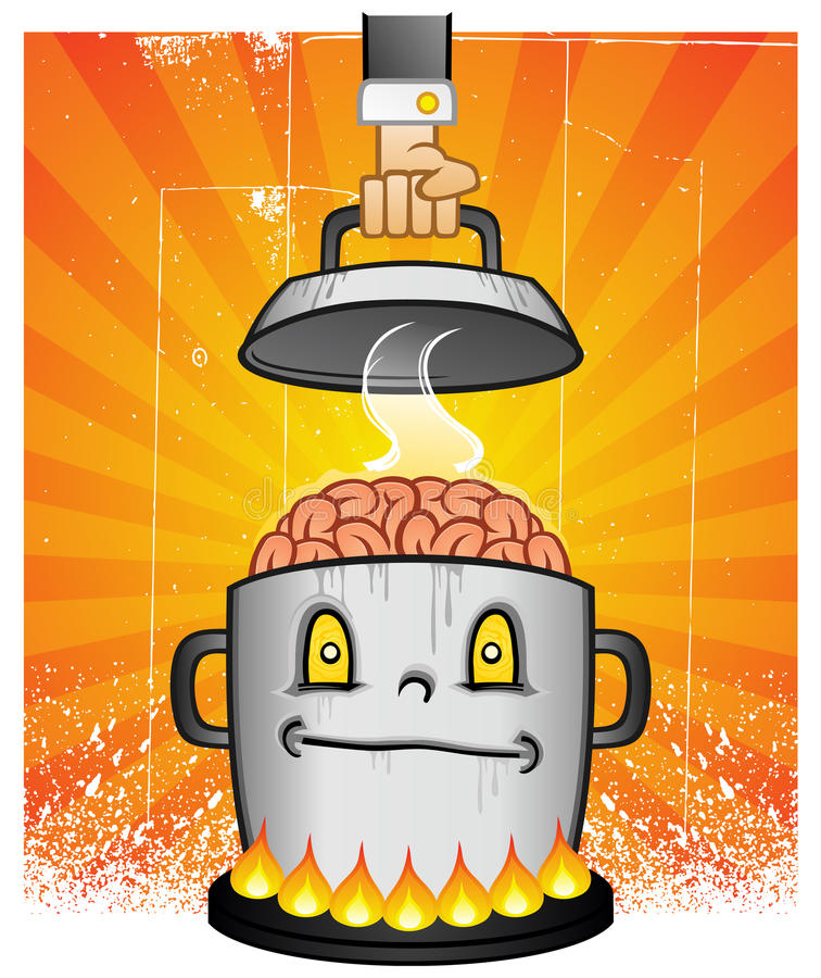 Pot Of Brains Royalty Free Stock Photos